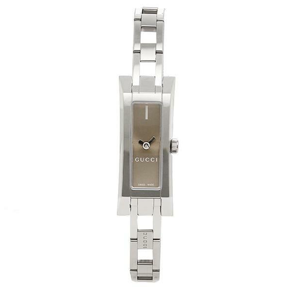 【送料無料】グッチ 時計 レディース GUCCI 腕時計 Gリンク ブラウン/シルバー ウォッチ