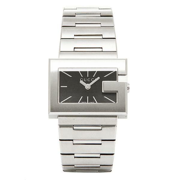 【送料無料】グッチ 時計 レディース GUCCI Gレクタングル 腕時計 ウォッチ ブラック/シルバー