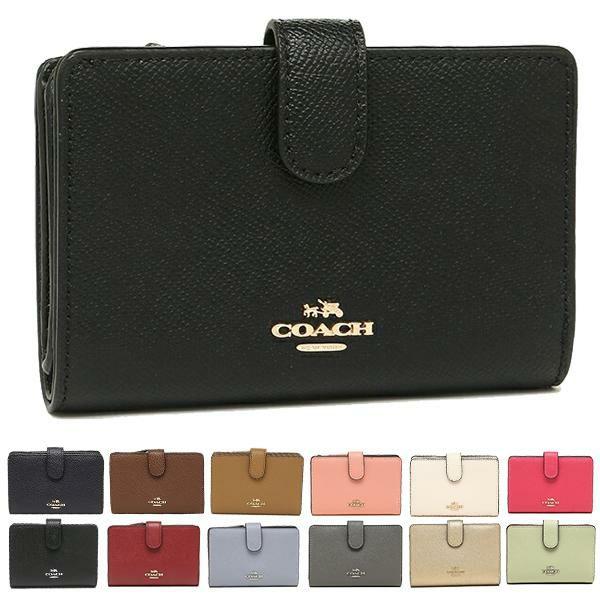 COACH 財布 アウトレット コーチ F11484 クロスグレイン ミディアム コーナー ジップウォレット 二つ折り財布