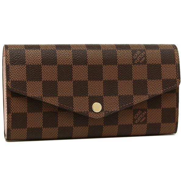 【送料無料】ルイヴィトン 長財布 レディース LOUIS VUITTON N60114 ブラウン ピンク